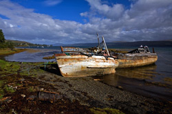 Salen is on the east coast of the island, on the Sound of Mull, approximately halfway between Craignure and Tobermory. Copyright Derek Fogg @ britishlandscapes.com