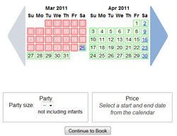 Now our weeks are from Saturday to Saturday - click to check out our updated availability calendar