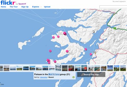The new Flickr map of Mull & Iona photos